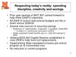 respecting today s reality spending discipline creativity and savings3