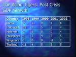 the asian tigers post crisis gdp growth