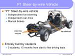 p1 steer by wire vehicle