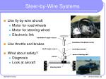 steer by wire systems