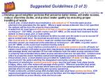 suggested guidelines 3 of 3