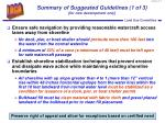summary of suggested guidelines 1 of 3 for new development only