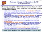 summary of suggested guidelines 3 of 3 for new development only
