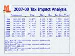 2007 08 tax impact analysis