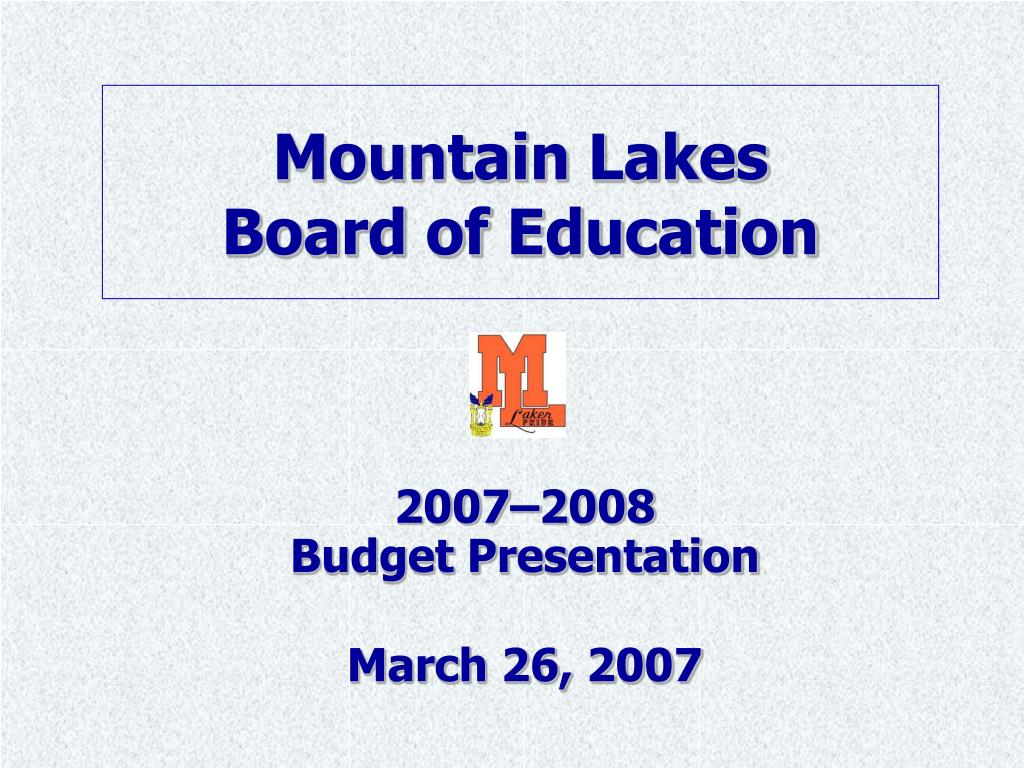 mountain lakes board of education l.