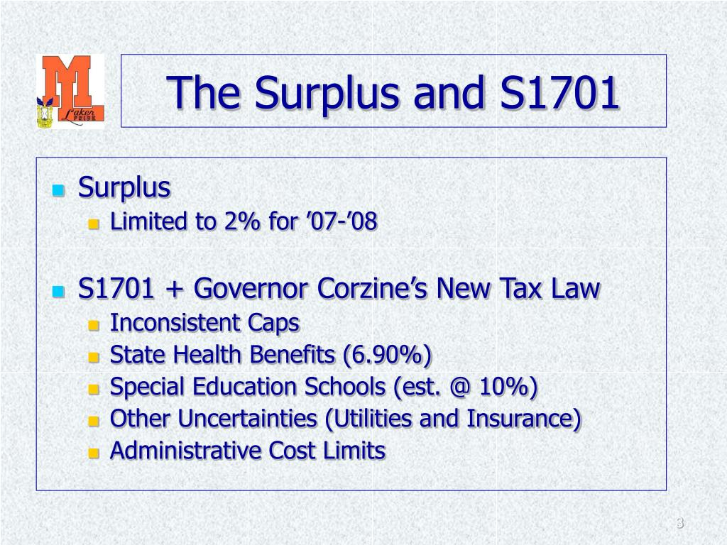 The Surplus and S1701
