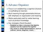 3 advance organizer