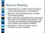 behavior modeling