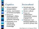 cognitive sociocultural