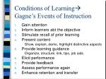 conditions of learning gagne s events of instruction