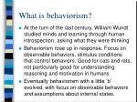 what is behaviorism