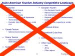 asian american tourism industry competitive landscape