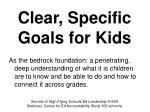 clear specific goals for kids
