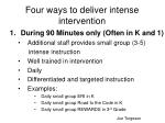 four ways to deliver intense intervention