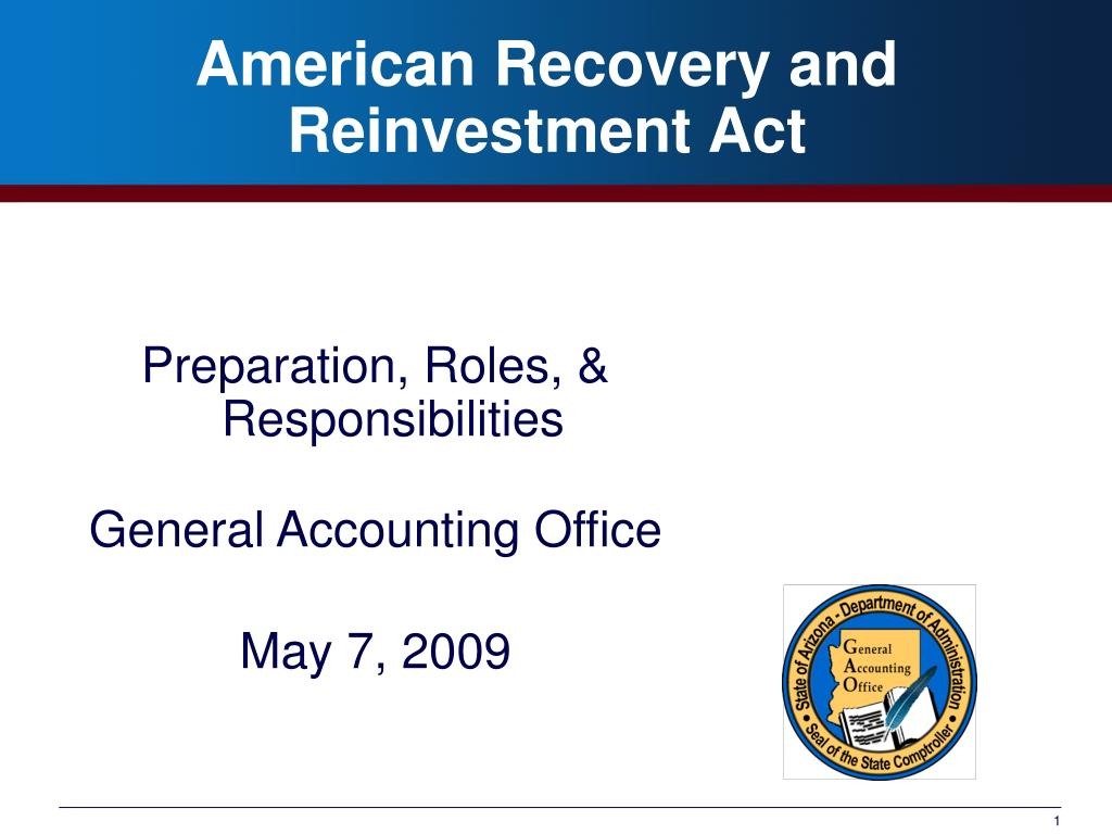 american recovery and reinvestment act l.
