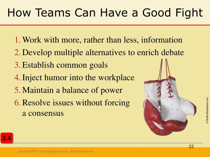 How Teams Can Have a Good Fight