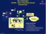 pei overview tetra open standards based architecture