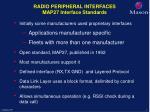 radio peripheral interfaces map27 interface standards