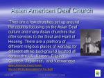 asian american deaf church