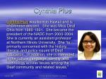 cynthia plue
