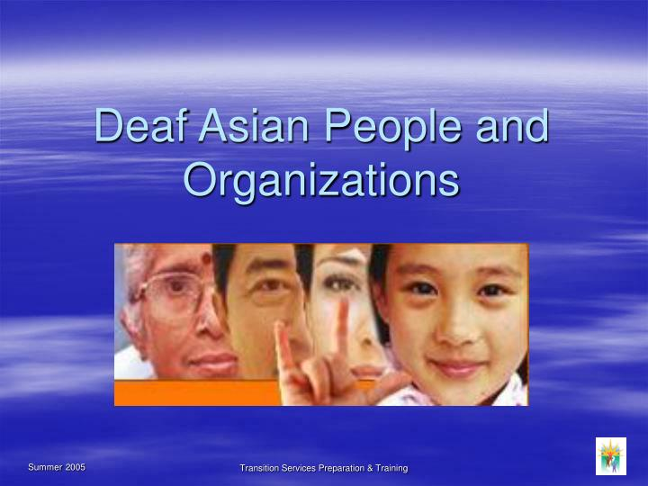 deaf asian people and organizations n.