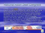 national asian deaf congress