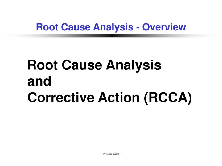 root cause analysis overview n.