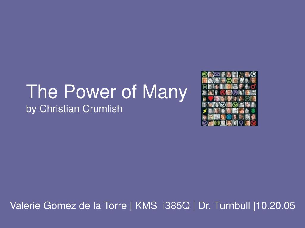 the power of many by christian crumlish
