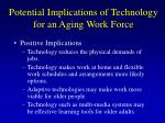 potential implications of technology for an aging work force21