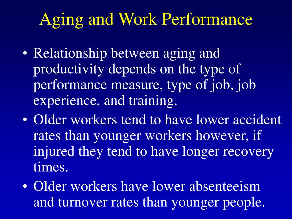 Aging and Work Performance