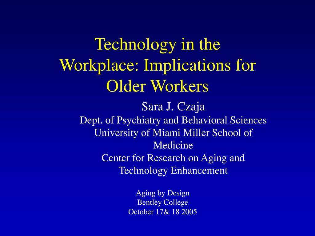 technology in the workplace implications for older workers l.