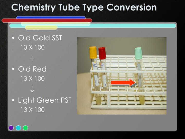 Chemistry Tube Type Conversion