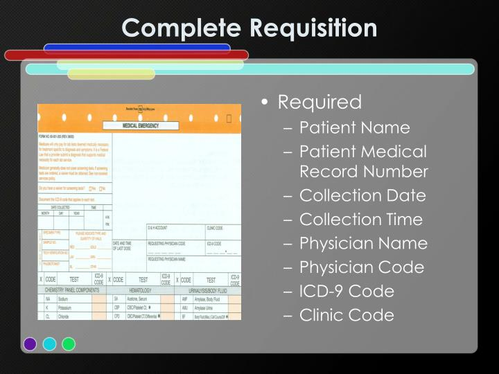 Complete Requisition