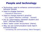 people and technology
