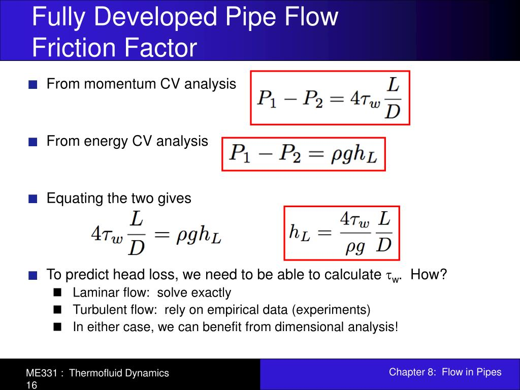 PPT - Chapter 8: Flow in Pipes PowerPoint Presentation - ID