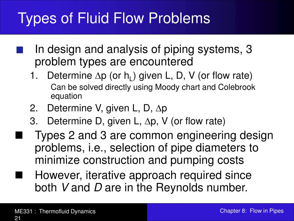 PPT - Chapter 8: Flow in Pipes PowerPoint Presentation - ID:477171