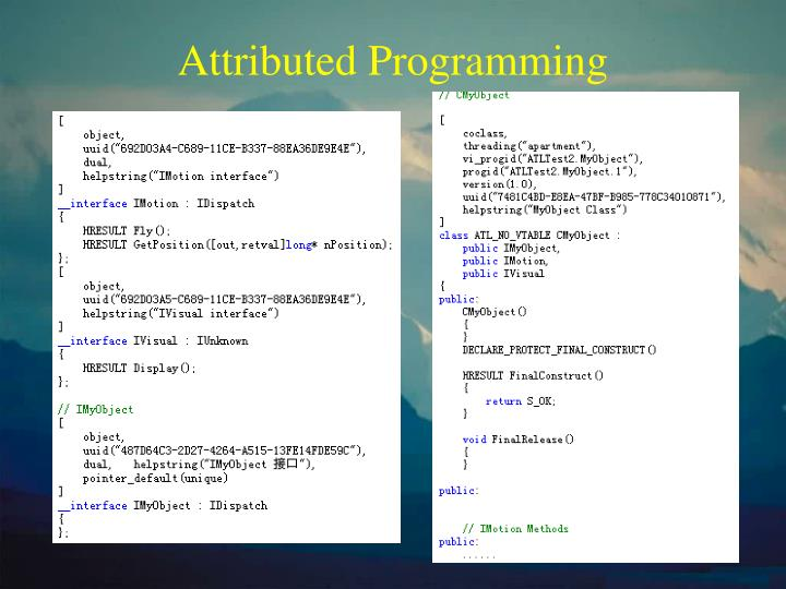 Attributed Programming