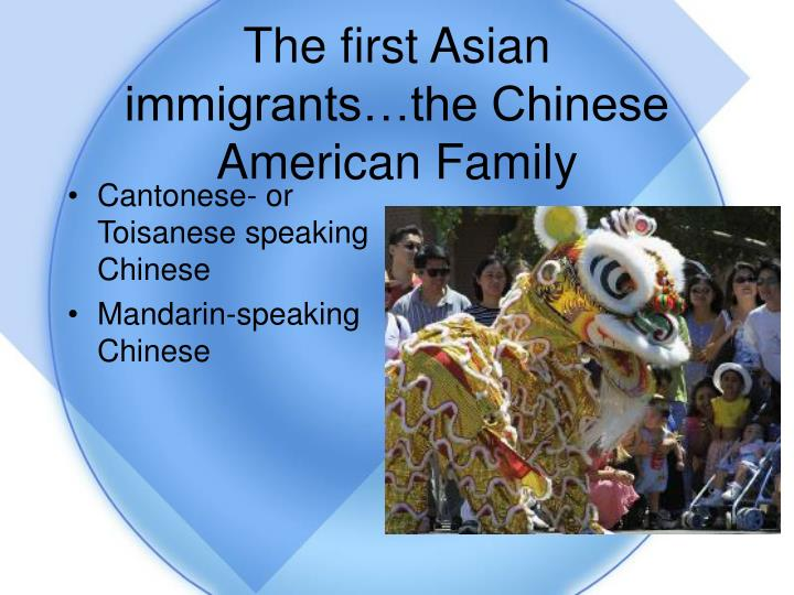 The first Asian immigrants…the Chinese American Family