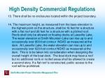 high density commercial regulations20