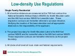 low density use regulations
