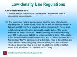 low density use regulations49
