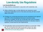 low density use regulations50