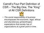 carroll s four part definition of csr the big one the king of all csr definitions
