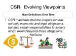 csr evolving viewpoints1