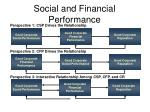 social and financial performance