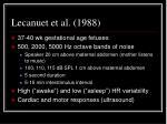 lecanuet et al 1988