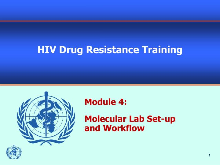 hiv drug resistance training n.