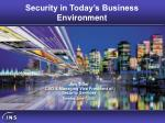 security in today s business environment