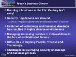 today s business climate