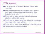 pcw students